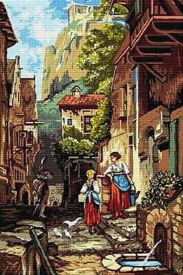 Hudemas The Hussar Needlepoint Canvas #065- 25x40 cm (9.75x15.75 Inches)
