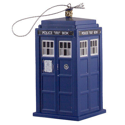 Doctor Who Tardis Blow Mold Plastic Ornament