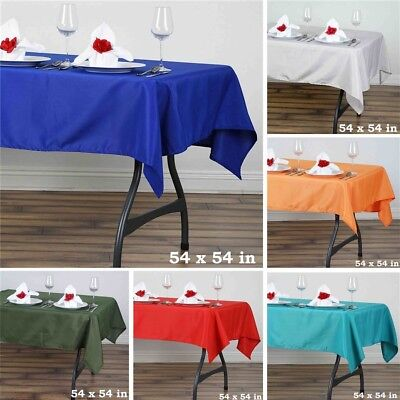 "36 pcs 54"" SQUARE POLYESTER TABLECLOTH Wedding Party Catering Dinner Linens SALE"