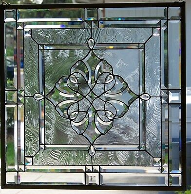 """Stained Glass window hanging 27 1/2"""" square"""