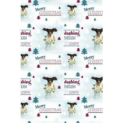 Springer Spaniel Dog Lovers Christmas Gift Wrap Wrapping Paper  6 Sheets Tags