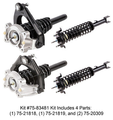 New Complete Set Front & Rear Left & Right Strut Shock Coil Spring Assembly