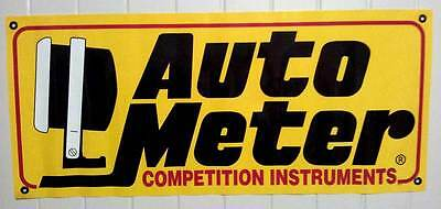 Auto Meter Banner for man cave garage shed Flag rat hot rod Drag drift show car