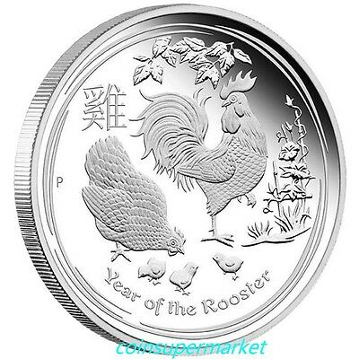 Australia 2017 Year Of Rooster Chinese Lunar Zodiac 1 oz Silver Proof Coin Perth