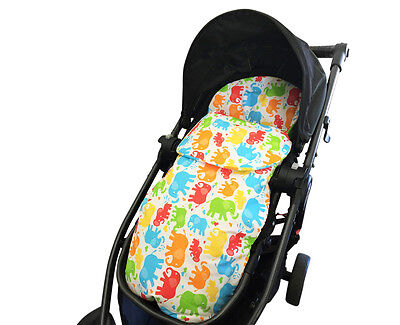 GOOSEBERRY FOOTMUFF PRAM LINER SLEEPING BAG 2in1 Cotton Elephant AllYear TheBest
