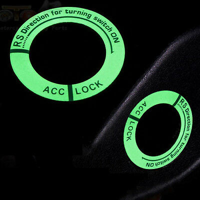 1x Luminous Car Ignition Key Hole Ring Coil Switch Decoration Sticker Trim Hot