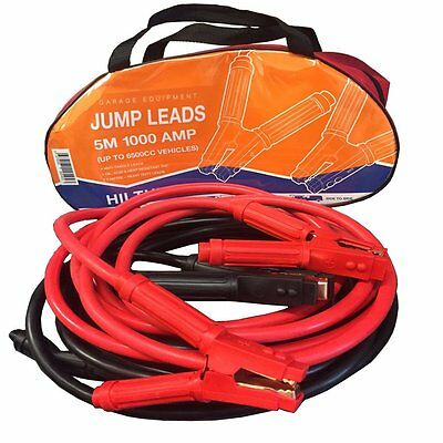 Heavy Duty 1000A Car Van Commercial Jump Leads 5M Long Recovery Starter Cables