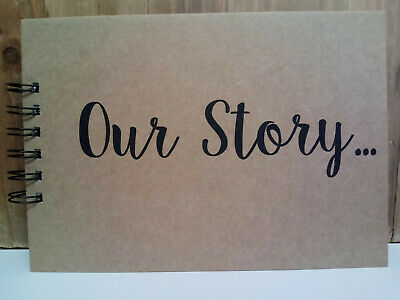 A5 Our Story  Memory Book Scrapbook Album Gift Keepsake Present birthday Baby
