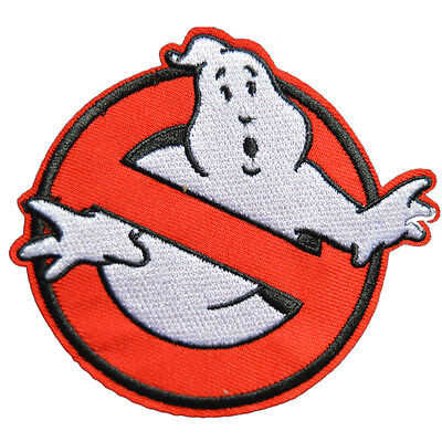 """Ghostbusters Movies No Ghost 3.5"""" Logo Embroidered Iron Sew On Patch Appliques"""