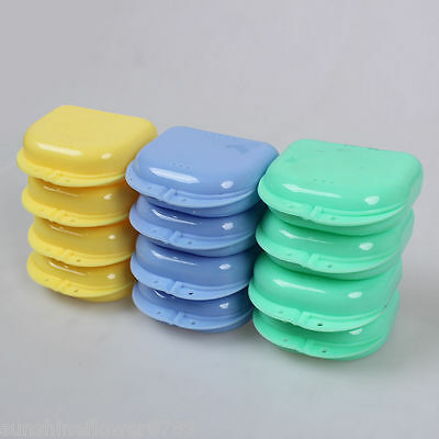 15PCS Orthodontic Dental Denture Retainer Box Container Teeth Holder Strong Box