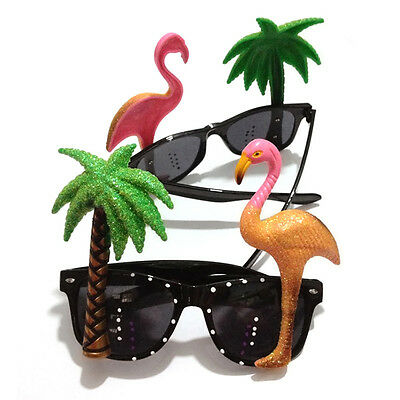 1xHawaiian Novelty Fun Party Flamingos Sunglasses Shadding Glasses Costume Party