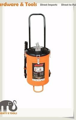 "20kg Bucket Grease Pump with Wheel Up to-4000psi 4.25gram/stroke 1/4""x2.2m Hose"
