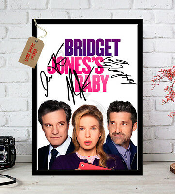 Bridget Jones Baby Movie Poster Autograph Signed Photo Print