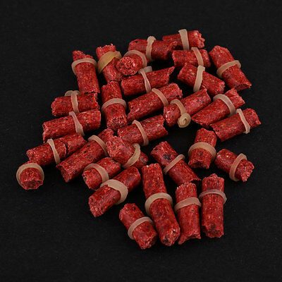 5Pcs Red Fishy Smell Grass Carp Baits Lures Coarse Fishing Insect Formula Tackle