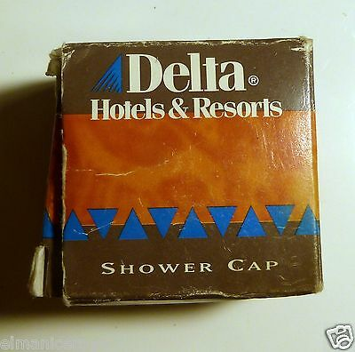 Mignon Hotel Delta Hotels & Resorts Shower Cap Bonnet De Douche Anni 80