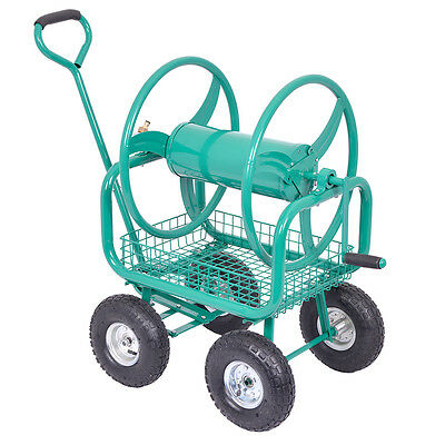 HydroSure Heavy Duty Hose Reel Pull Trolley with Swivel Wheels - 125m Capacity