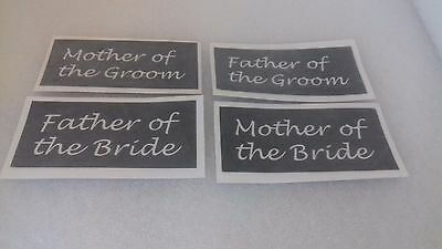 10 - 400 Mother & Father of the Groom & Bride stencils mixed for etching glass