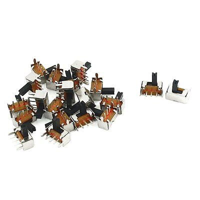 sourcingmap 20 Pcs ON/ON 2 Position 1P2T SPDT Panel PCB Mini Slide Switch Right