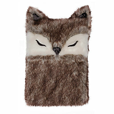 Premium Faux Fur Fox Hot Water Bottle Aroma Home Gift Boxed Fox Lovers Hottie