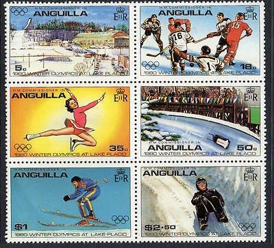 Anguilla MNH 1980 Olympic Winter Games Block of 6