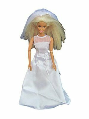 Barbie Sindy Doll Gorgeous Simple Traditional White 2 Piece Wedding Dress Veil