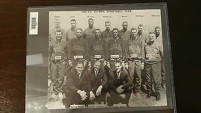 1960 US Olympic Basketball Team Vintage Photo Signed Jerry West ASA Gold Medal