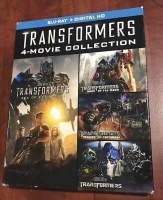Transformers Complete 4-Movie Collection Blu-rayS ONLY