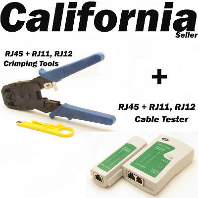 RJ45 Crimping Tool Wire Stripper Crimper Cutter Network Cable Tester RJ11 RJ12