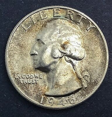 1946  Washington Quarter  Nicer Grade Coin Toned