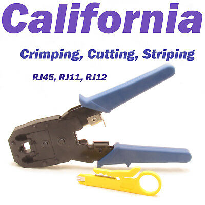 Crimping Tool Wire Stripper Crimper Cutter Punch Down RJ45 8P8C 6P 4P RJ11 RJ12