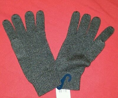 Ralph Lauren Kids Wool/Cotton Gloves, Size 8-20, GREY, MSRP $45