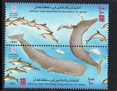 Oman MNH 1993 Dolphins and Whales Pair