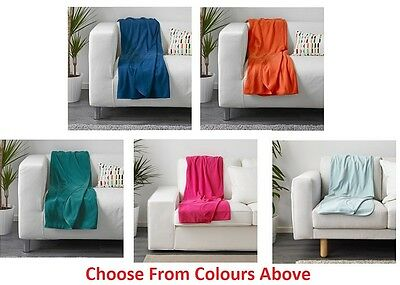 IKEA SKOGSKLOCKA Fleece Sofa Knee Bed Throw Rug Blanket 130x170 cm Choose Colour