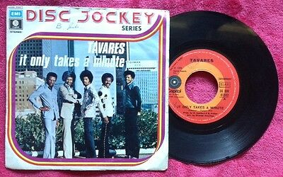 "TAVARES / IT ONLY TAKES A MINUTE - I HOPE SHE CHOOSES ME - 7"" (Italy 1975)"