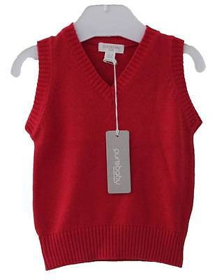 Purebaby Baby Vest Pure 100% Organic Cotton Sweater Clothes Sz 00 000 New
