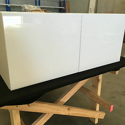 kitchen cabinets 900mm fridge overhead assembled with 2 pak glossy door