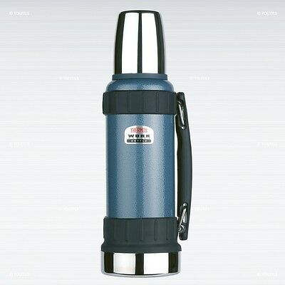 Thermos Work Series Stainless Steel Vaccum Insulated Flask 1.2L Hammertone Blue