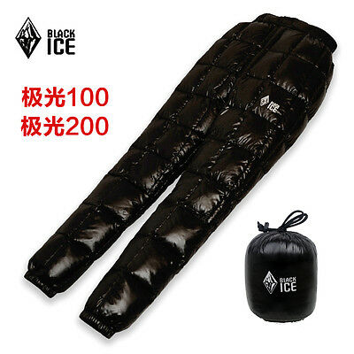 BlackIce ultra-light outdoor camping warm thermal white goose down pants FP700+