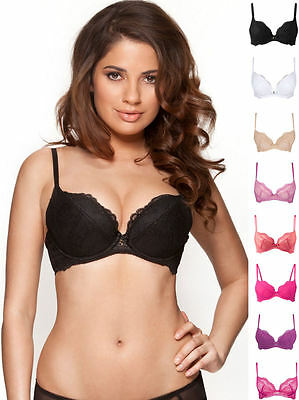 Gossard 7711 Superboost Underwired Lace Padded Plunge Push Up Bra New Lingerie