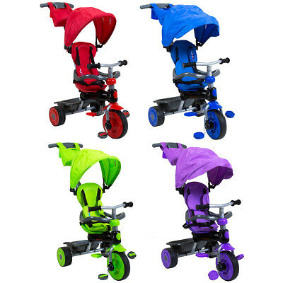 Trikestar Deluxe 4 In 1 Pedal Trike - Purple, Red, Green & Blue Available