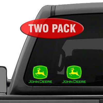 "John Deere - TWO PACK - 5"" Tractor Implement Cart Gator Logo / Decal / Sticker"