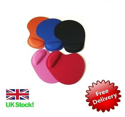 Mouse Pad Mat With Foam Rest Anti-Slip Non Slip Base & Wrist Support