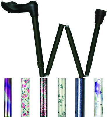 Able2 Left & Right Hand Folding & Adjustable Arthritis Grip Canes/Walking Sticks