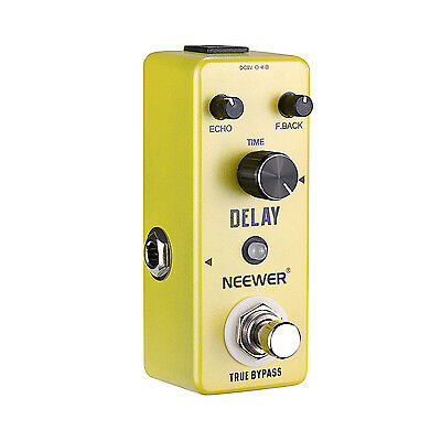 Neewer Compact Pure Analog Delay Guitar Effect Pedal True Bypass-Yellow