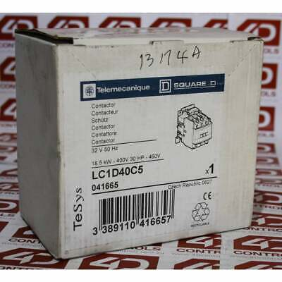 Telemecanique LC1 D40C5 3 Pole Contactor 32V Coil - New Surplus Open