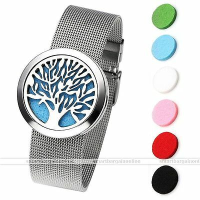 316L Surgical Steel Aromatherapy Essential Oil Diffuser Locket Bracelet Bangle