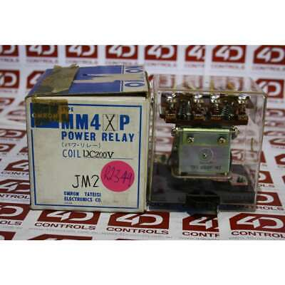 Omron MM4XP DC200 Relay 200CDV COIL - New Surplus Open