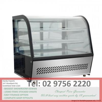 Fed Commercial 100L Chilled Counter Bench Top Food Cake Display Fridge Htr100