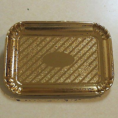 Rectangular Gold Cardboard Cake Tray 8x 11 with clear dome lids - 10/sets