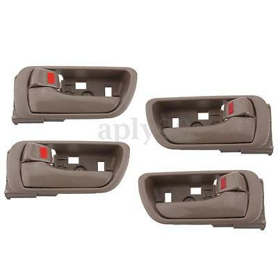 4pcs Tan Inside Inner Interior Door Handle For 02-06 Toyota Camry Left Right US
